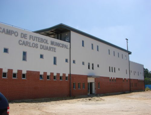 Construção da Bancada do Estádio Municipal Carlos Duarte | Município da Mealhada